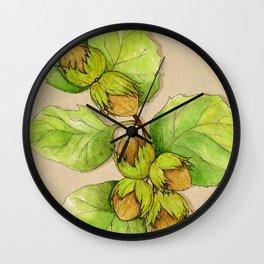 Corylus Avellana Wall Clock