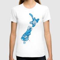 new zealand T-shirts featuring NEW ZEAlAND  by Jun Arita
