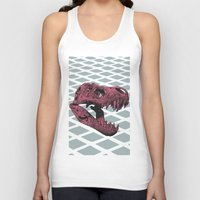 t rex Tank Tops featuring T-Rex by Blake Makes Tees