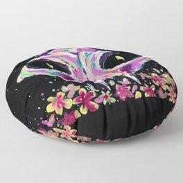 Cat Rainbow skull Floor Pillow
