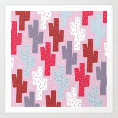 Sweet cactus pattern Art Print