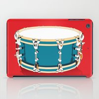 drum iPad Cases featuring Drum - Red by Ornaart