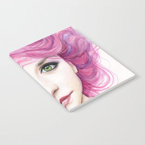 Pink Hair Girl Notebook