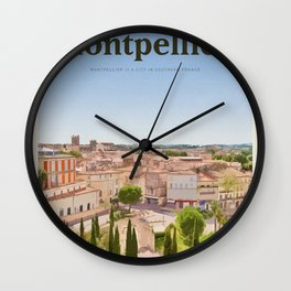 Visit Montpellier Wall Clock