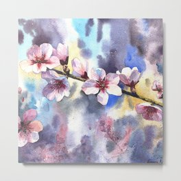 Blossoming almond Metal Print