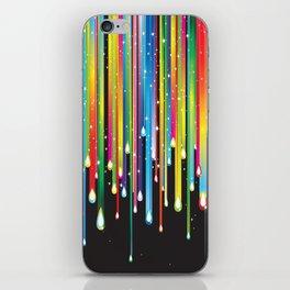 Rainbow Paint Drips iPhone Skin