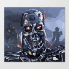 Speed Portraits: Terminator T-800 Canvas Print