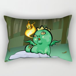 Where baby dragons play Rectangular Pillow