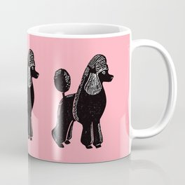 Black Standard Poodle Coffee Mug