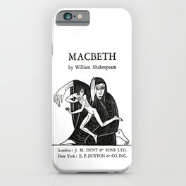 Macbeth William Shakespeare Book Cover iPhone Case