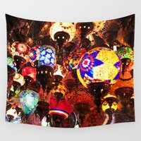 lanterns Wall Tapestries featuring Lanterns by Britt Mansouri