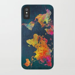 World Map blue #world #map iPhone Case