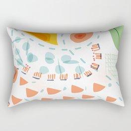 Greenery in april | Happy modern art | Apartment decor Rectangular Pillow