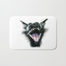 Black  Scream Bath Mat