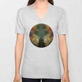 """""""The Inner Forest (caramel pattern)"""" Unisex V-Neck"""