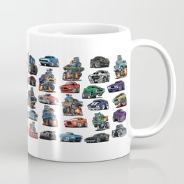 American Hot Rods, Muscle Cars, Street Rods, Pickup Trucks and Motorcycle Cartoons Coffee Mug