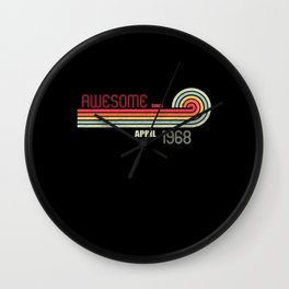 April 1968 53 th Birthday Years Old Wall Clock