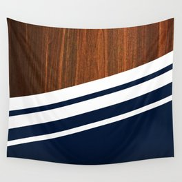 Wooden Navy Wall Tapestry