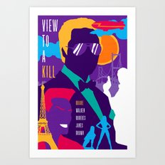 James Bond Golden Era Series :: View to a Kill Art Print