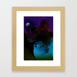 Tree in the space Framed Art Print