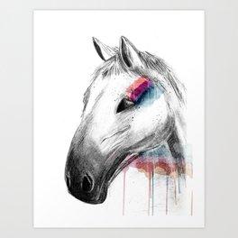 Rainbow Horse Art Print