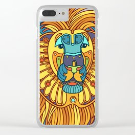 Lion, from the AlphaPod collection Clear iPhone Case