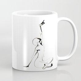 India Ink Dance Drawing Coffee Mug