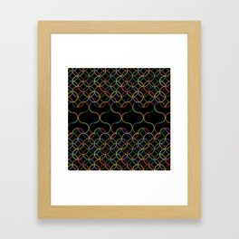 Hearts .dark Framed Art Print