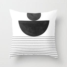 Minimalist Geometric Balance Throw Pillow