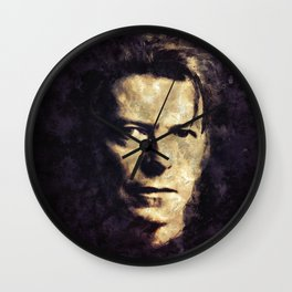 David Bowie painting Wall Clock