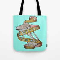 forever young Tote Bags featuring Forever Young by Blasto17