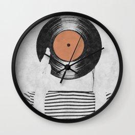 Vinyl record head ... Wall Clock