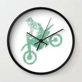 Dirt bike Motocross Wall Clock