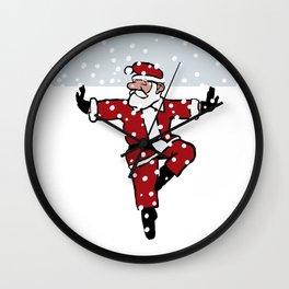 Dancing Santa - 3 Wall Clock
