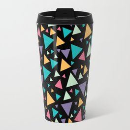 Memphis Milano style pattern with colorful triangles, multicolor triangle pattern print Travel Mug