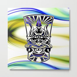 Vicious Tribal Mask Blue 009 Metal Print
