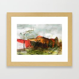 Who is in the house of my heart Framed Art Print