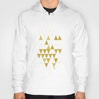 triangles Hoodies featuring My Favorite Shape by Krissy Diggs