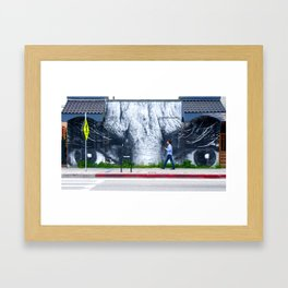 He's Staring at You Framed Art Print
