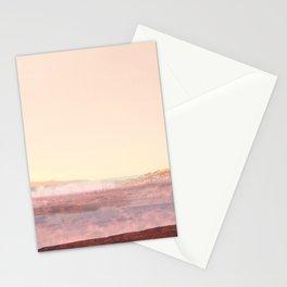 Pink Desert Landscape, Abstract Modern Southwest Stationery Cards