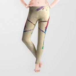 Rhythmic Gymnastics Print Sports Print Watercolor Print Leggings