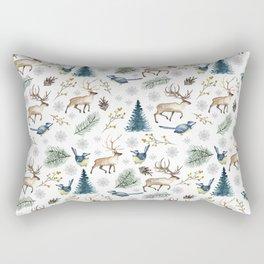 Winter forest. White pattern Rectangular Pillow