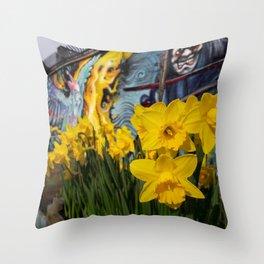 Shoreditch Daffs Throw Pillow