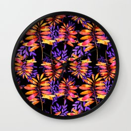 Psychedelic Fall pattern Wall Clock