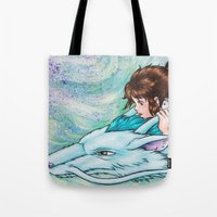 spirited away Tote Bags featuring Spirited Away by Kimberly Castello