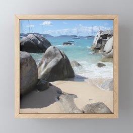 Scenic Beach at The Baths on Virgin Gorda, BVI Framed Mini Art Print