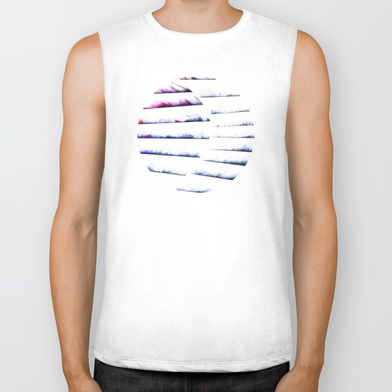 α White Crateris Biker Tank