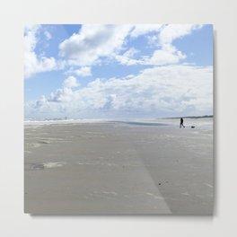 Cloudy seascape panorama Metal Print