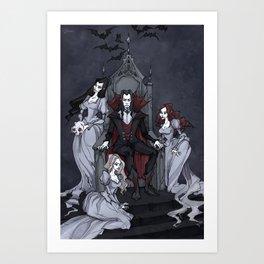 Dracula And His Brides Art Print