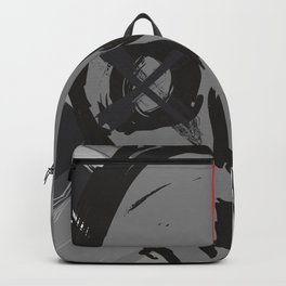 Skull with one eye red Backpack